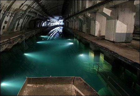 Cold-War Era Russian Underground Submarine Base