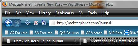 Firefox Theme - Vista Black