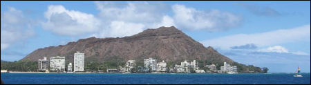Diamond Head - View from the Pacific