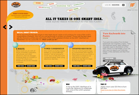 Geek Squad - IdeaFestival Website