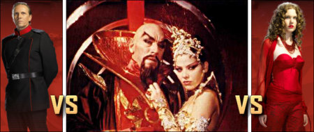 Ming the Merciless and Princess Aura - TV versus Movie