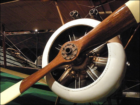 Biplane on display at the National Museum of the United States Air Force