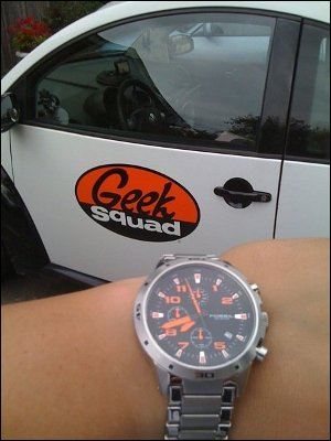 Orange and Black - The Geek Squad Colors