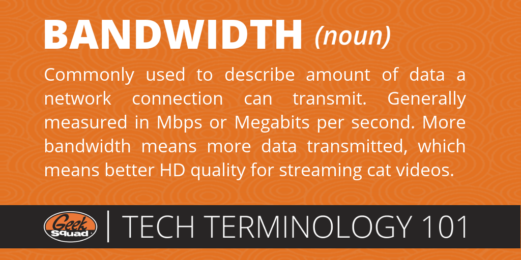 Tech Terms 101 - Bandwidth