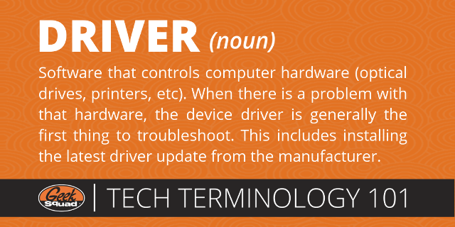 GS Tech Terms 101 Card - Device Driver